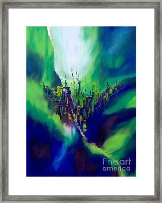 Blue Valley Framed Print by Pia Malmstrup
