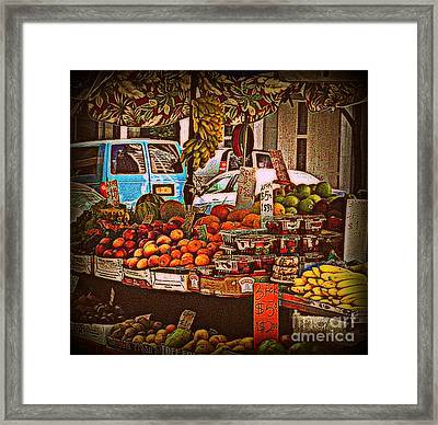 Blue Van Framed Print by Miriam Danar
