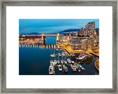 Blue Vancouver Morning Framed Print by James Wheeler