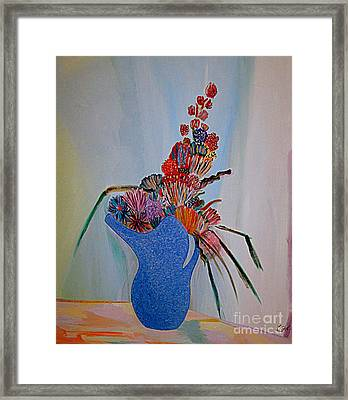 Blue Vase 22 Framed Print