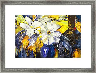 Blue Vase Framed Print by Dmitry Spiros