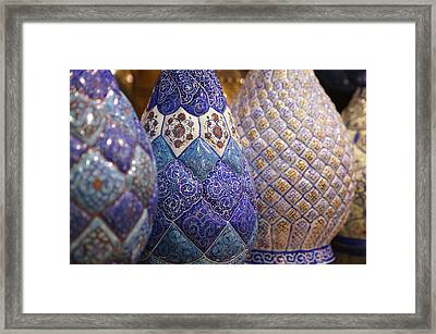 Blue Vases Framed Print