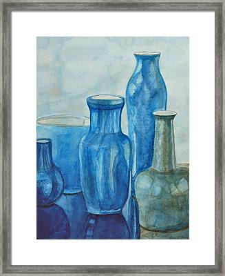 Blue Vases I Framed Print