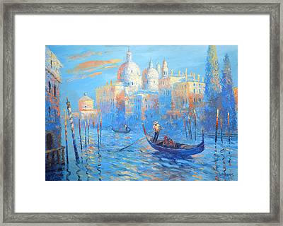 Blue Venice Framed Print
