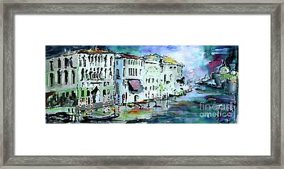 Blue Venice Grand Canal Italy Painting Framed Print