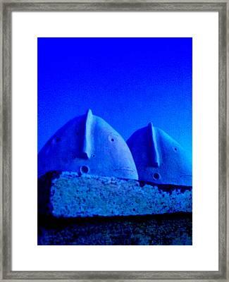 Blue Vigils Framed Print by Mark M  Mellon