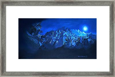 Blue Village Framed Print