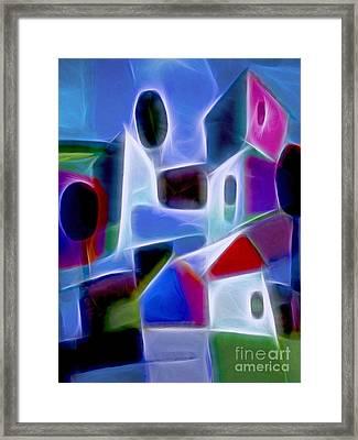 Blue Village Framed Print