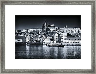 Blue Vltava View Framed Print by John Rizzuto
