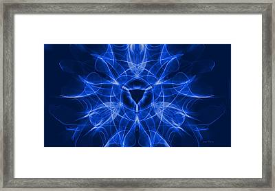 Blue Vulva Framed Print
