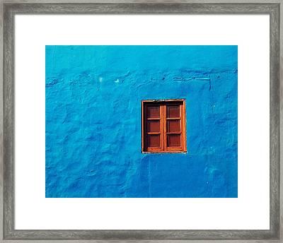 Blue Wall Framed Print by Gustavo Garcia