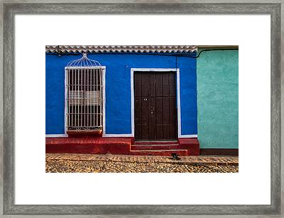 Blue Wall Framed Print