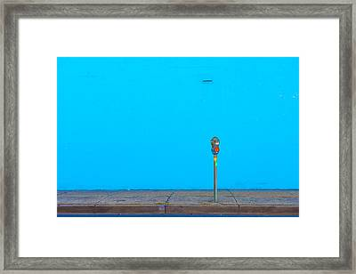 Blue Wall Parking Framed Print