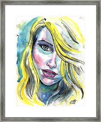 Blue Water Blonde Framed Print
