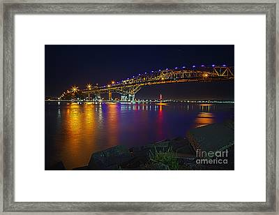 Blue Water Bridge Framed Print