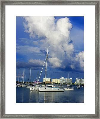 Blue  Water Framed Print by Carolyn Bistline
