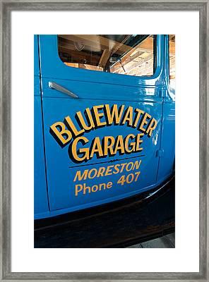 Blue Water Garage - Model T Truck Framed Print by Steve Harrington