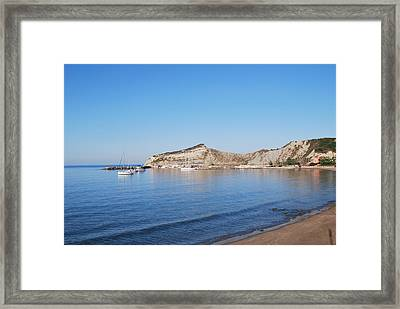 Framed Print featuring the photograph Blue Water by George Katechis