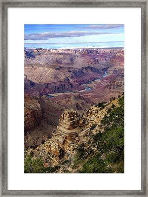 Blue Water In The Grand Canyon Framed Print