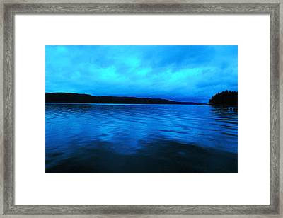 Blue Water In The Morn  Framed Print by Jeff Swan
