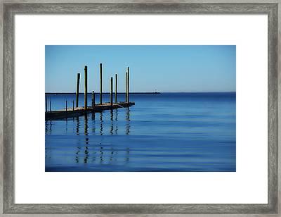 Blue Water Framed Print by Karol Livote