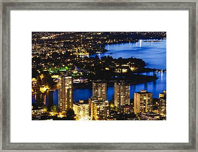 Framed Print featuring the photograph Blue Water Kitsilano Beach Mcdix by Amyn Nasser
