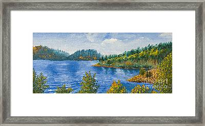 Blue Water Lake Framed Print by Svetlana Sewell