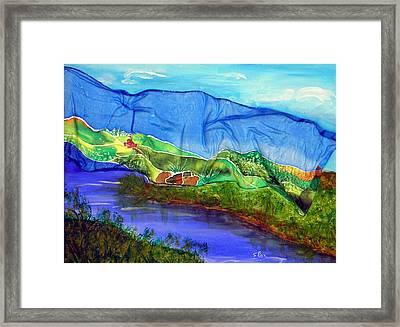 Blue Water Silk Framed Print