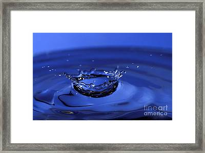 Blue Water Splash Framed Print by Anthony Sacco