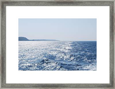 Framed Print featuring the photograph Blue Waters by George Katechis