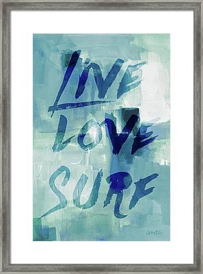 Blue Waves II Framed Print
