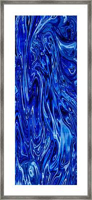 Blue Waves Of Beauty Framed Print