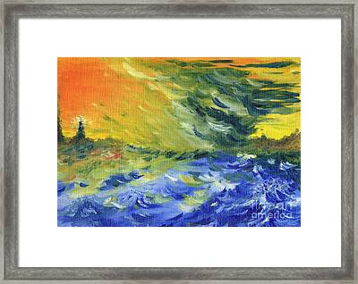 Blue Waves Framed Print