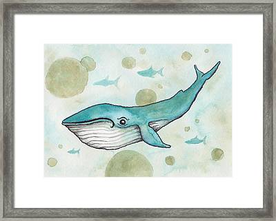 Blue Whale Framed Print by Melissa Rohr Gindling