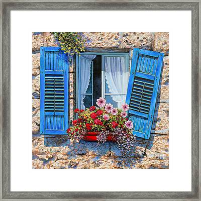 Blue Window Framed Print