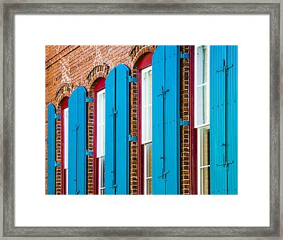 Blue Windows Framed Print