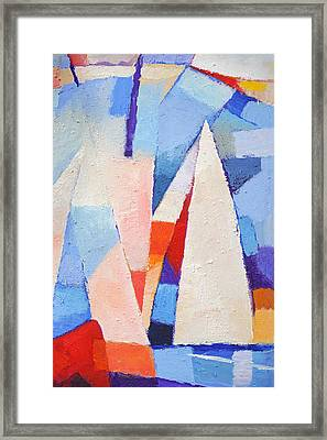 Blue Winds Framed Print