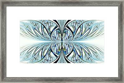 Blue Wings Framed Print