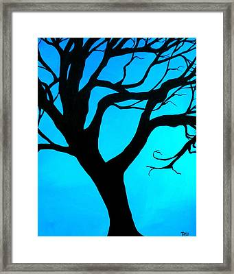 Blue Winter Framed Print