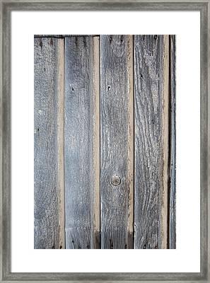 Blue Wood Grain Framed Print