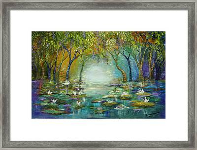 Blue Woods Framed Print