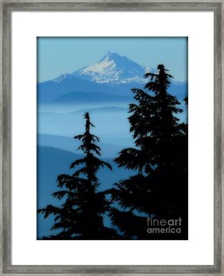 Blue Yonder Mountain Framed Print