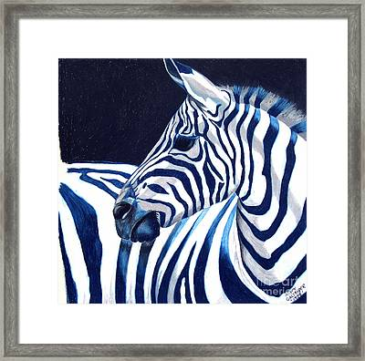 Blue Zebra Framed Print