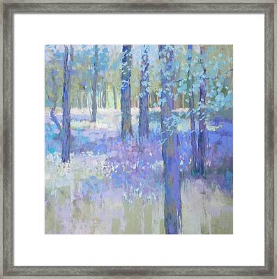 Bluebell Corner Framed Print by Jackie Simmonds