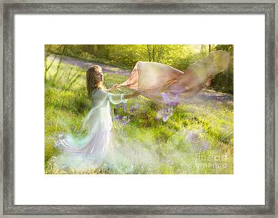 Bluebell Fairy Framed Print by Angel  Tarantella