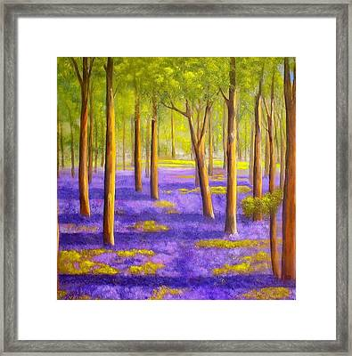 Bluebell Wood Framed Print by Heather Matthews