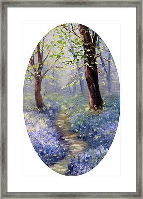 Bluebell Wood Framed Print by Meaghan Troup