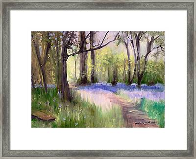 Bluebells At Dusk Framed Print