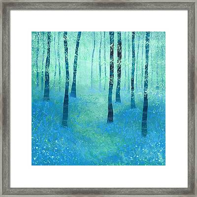 Bluebells Challock Framed Print by Nic Squirrell