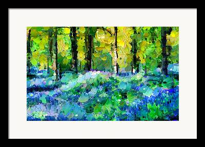 Bluebell Mixed Media Framed Prints